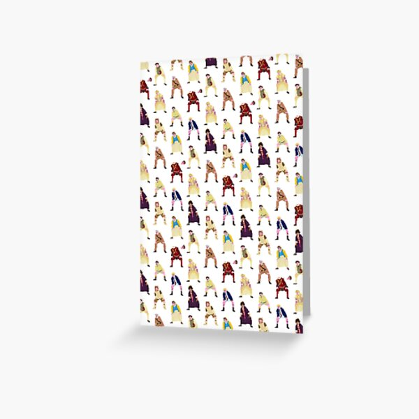 all the ghosts juckling Greeting Card