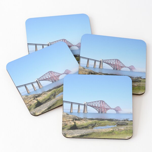 Forth Bridges at South Queensferry Coasters (Set of 4)