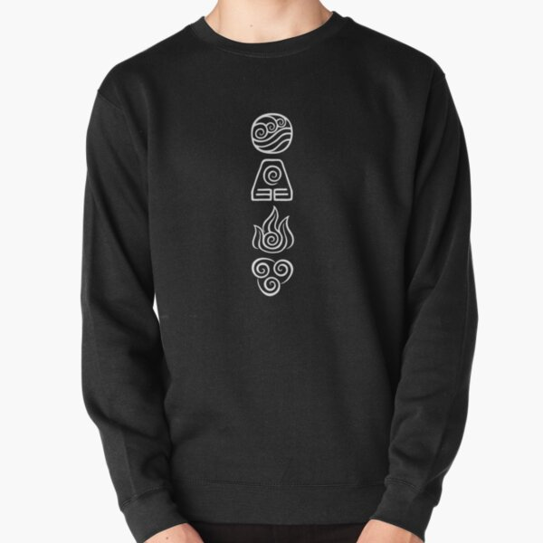 Avatar the Last Airbender Element Symbols WHITE Pullover Sweatshirt