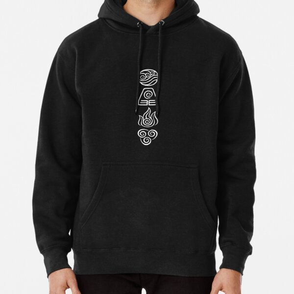 Avatar the Last Airbender Element Symbols WHITE Pullover Hoodie