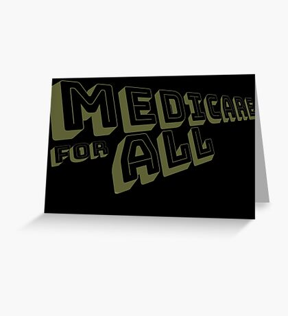 Medicare for All - Yellow Bungee Text Greeting Card