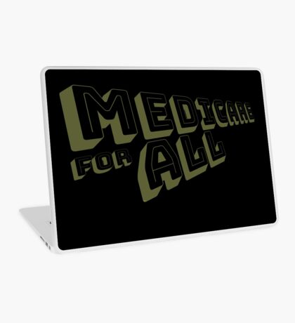 Medicare for All - Yellow Bungee Text Laptop Skin