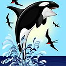 Orca Killer Whale jumping by BluedarkArt
