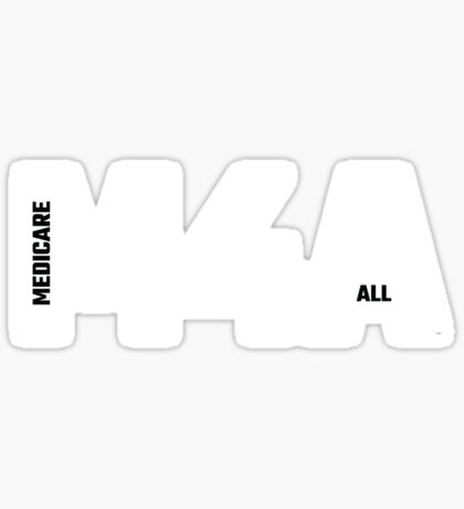 M4A (Medicare for All) White Acronym with Black Text Sticker