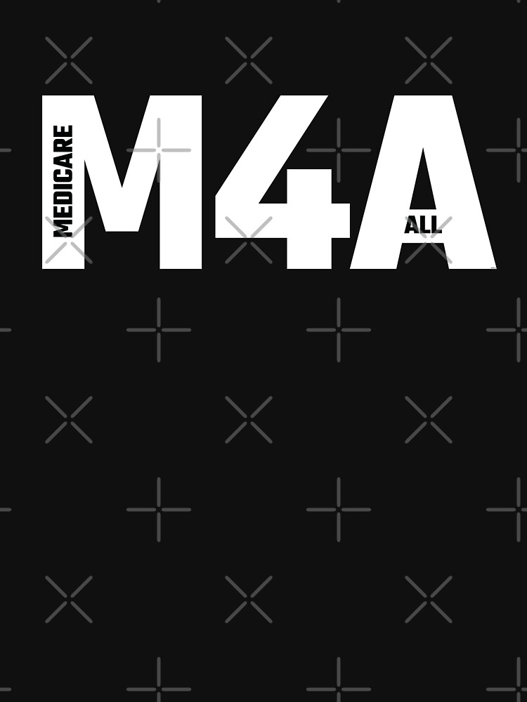 M4A (Medicare for All) White Acronym with Black Text by willpate