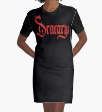 Dracarys - Red Graphic T-Shirt Dress