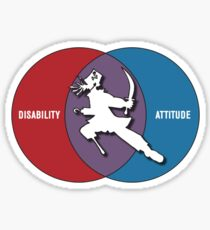 Disabilities with Attitude Sticker