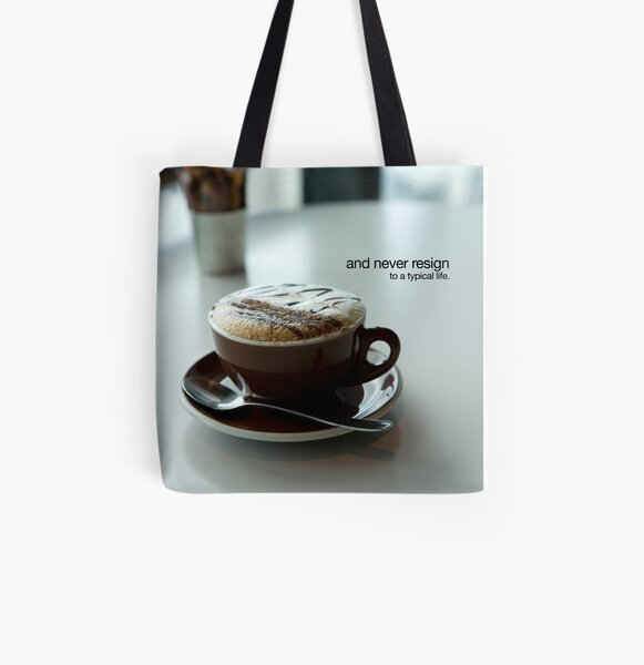 never resign All Over Print Tote Bag