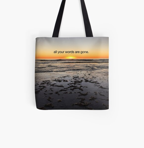 all your words are gone All Over Print Tote Bag