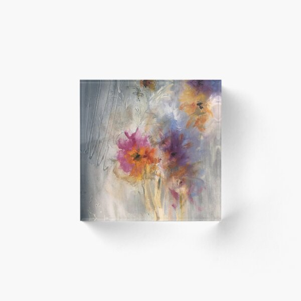 Flowers Acrylic Block