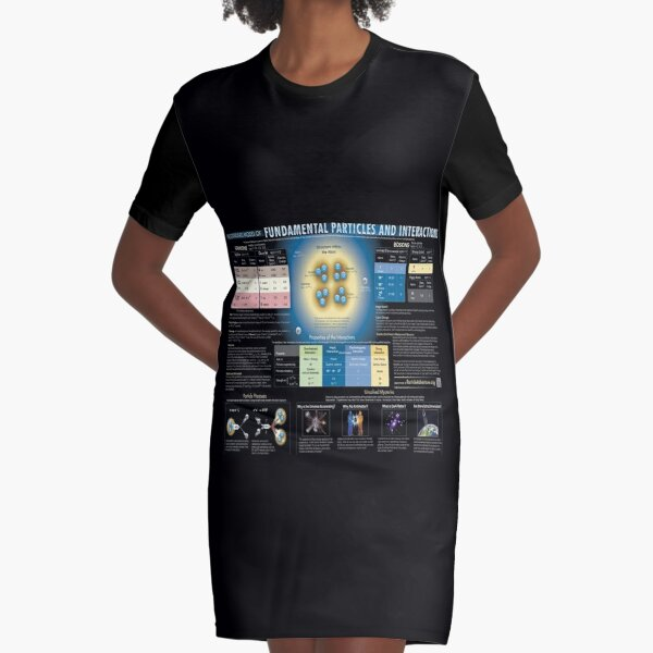 Educational Poster: The Standard Model of Fundamental Particles and Interactions Graphic T-Shirt Dress