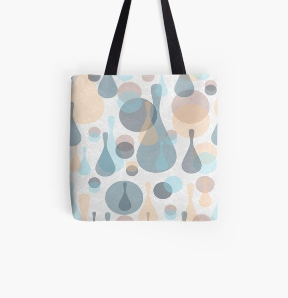 Spots and drops All Over Print Tote Bag