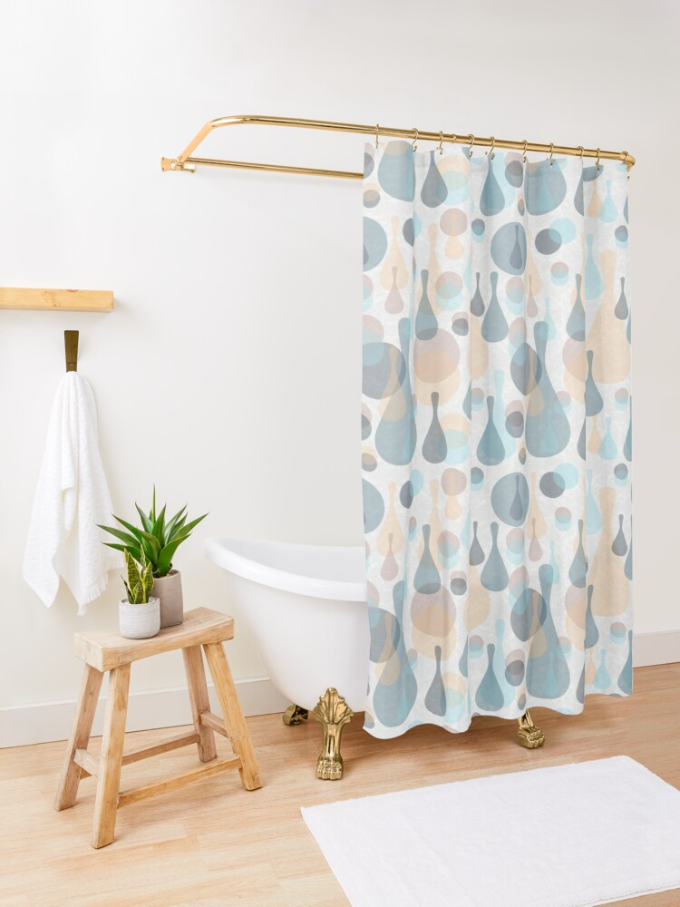 Alternate view of Spots and drops Shower Curtain