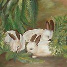Bunnies by JillPerlaArt