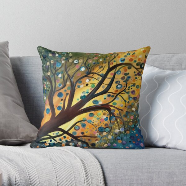 Tree Bubbles Throw Pillow