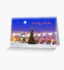 Snow-Painted Ladies Greeting Card