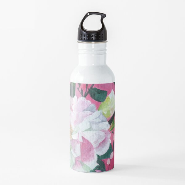Camellia and Flower Buds Water Bottle