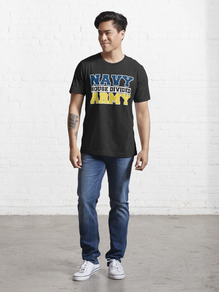 Alternate view of Navy House Divided Army Essential T-Shirt