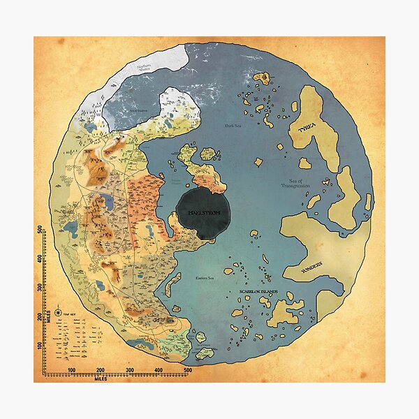 Grimmgard World Map Photographic Print