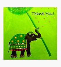 """Thank You Card featured in """"Colour me a rainbow - GREEN"""" Photographic Print"""