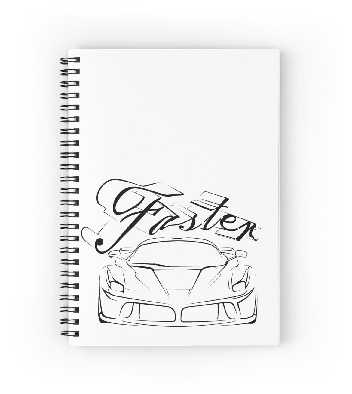 u0026quot race car in tribals u0026quot  spiral notebooks by pasob