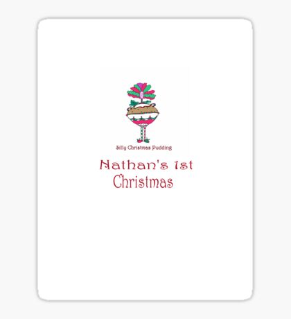 Silly Christmas Pudding Sticker