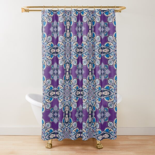 Zentangle Ladies Shower Curtain