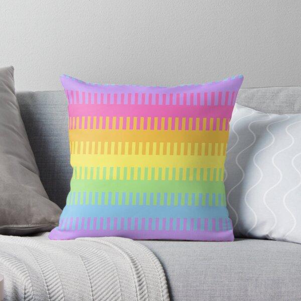 A pretty rainbow blend Throw Pillow
