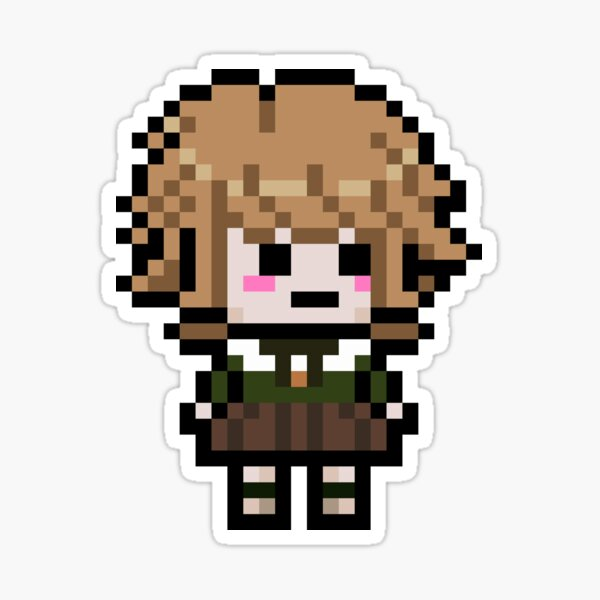 Chihiro Fujisaki Pixel ARt (Danganronpa) Pegatina