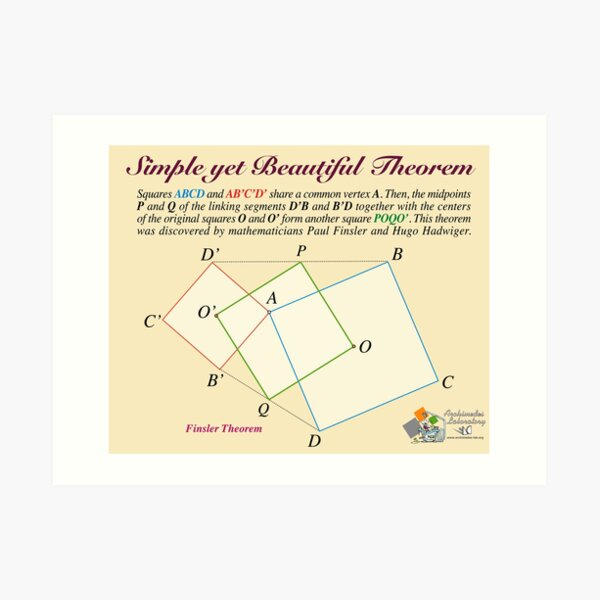 Finsler Theorem Art Print