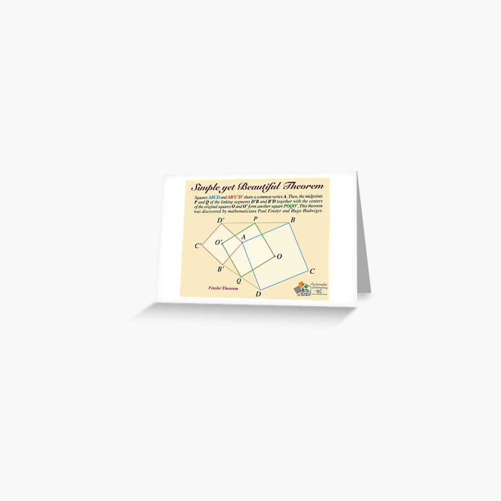 Finsler Theorem Greeting Card