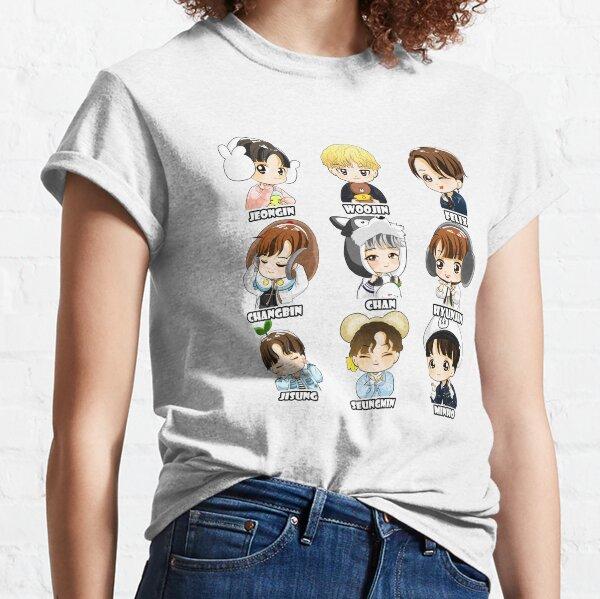 KPOP STRAY KIDS CHIBI ALLE MITGLIEDER Classic T-Shirt