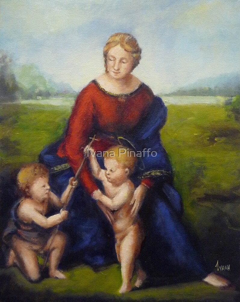 The Madonna of the meadows by Ivana Pinaffo