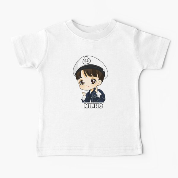 KPOP STRAY KIDS LEE KENNEN MINHO CHIBI Baby T-Shirt