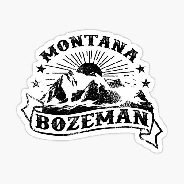 Vintage Bozeman Montana Mountains Tattoo Sticker