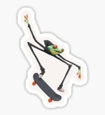 Skateboarding Frog Sticker