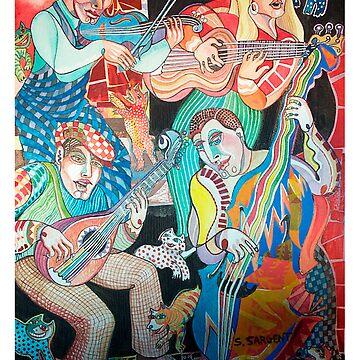 Cajun Band by SallySargent