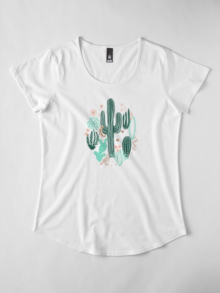 Alternative Ansicht von Sonora-Landschaft Premium Rundhals-Shirt