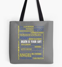 Joss Whedon - Death Is Your Gift  Tote Bag