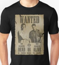Supernatural - Wanted Dead or Alive  T-Shirt
