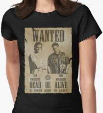 Supernatural - Wanted Dead or Alive  Women's Fitted T-Shirt