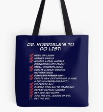 Dr. Horrible's To Do List  Tote Bag