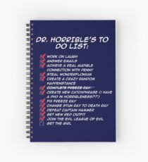 Dr. Horrible's To Do List  Spiral Notebook