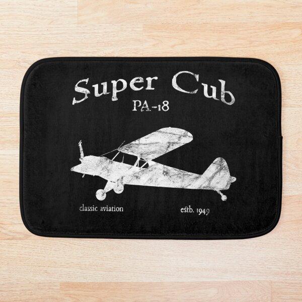 PA-18 Super Cub Airplane Classic Vintage Design Bath Mat
