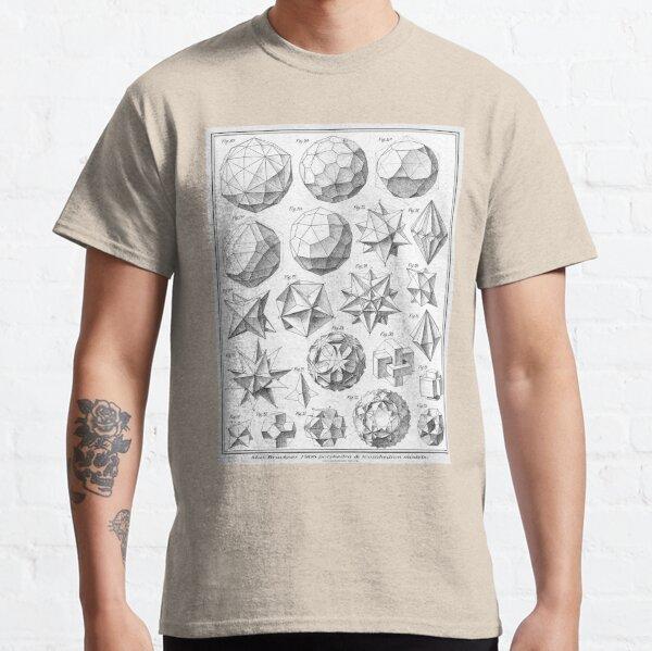 Max Bruckner 1906 polyhedra & icosahedron models Classic T-Shirt
