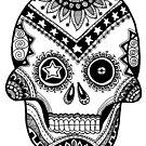Deadeye Sugar Skull with Stars by mintdawn