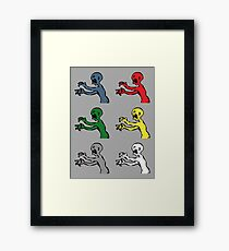 Grr. Argh. Colours  Framed Print