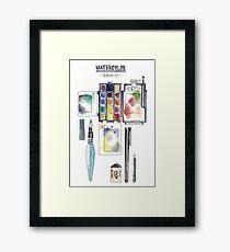 Watercolor Survival Kit Framed Print