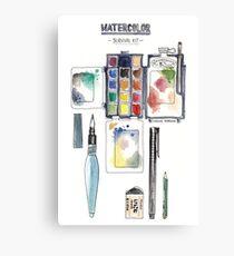 Watercolor Survival Kit Canvas Print