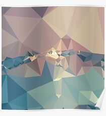 Opera Mauve Abstract Low Polygon Background Poster